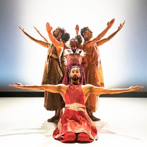 Dancers onstage performing The Rite of Spring by Seeta Patel