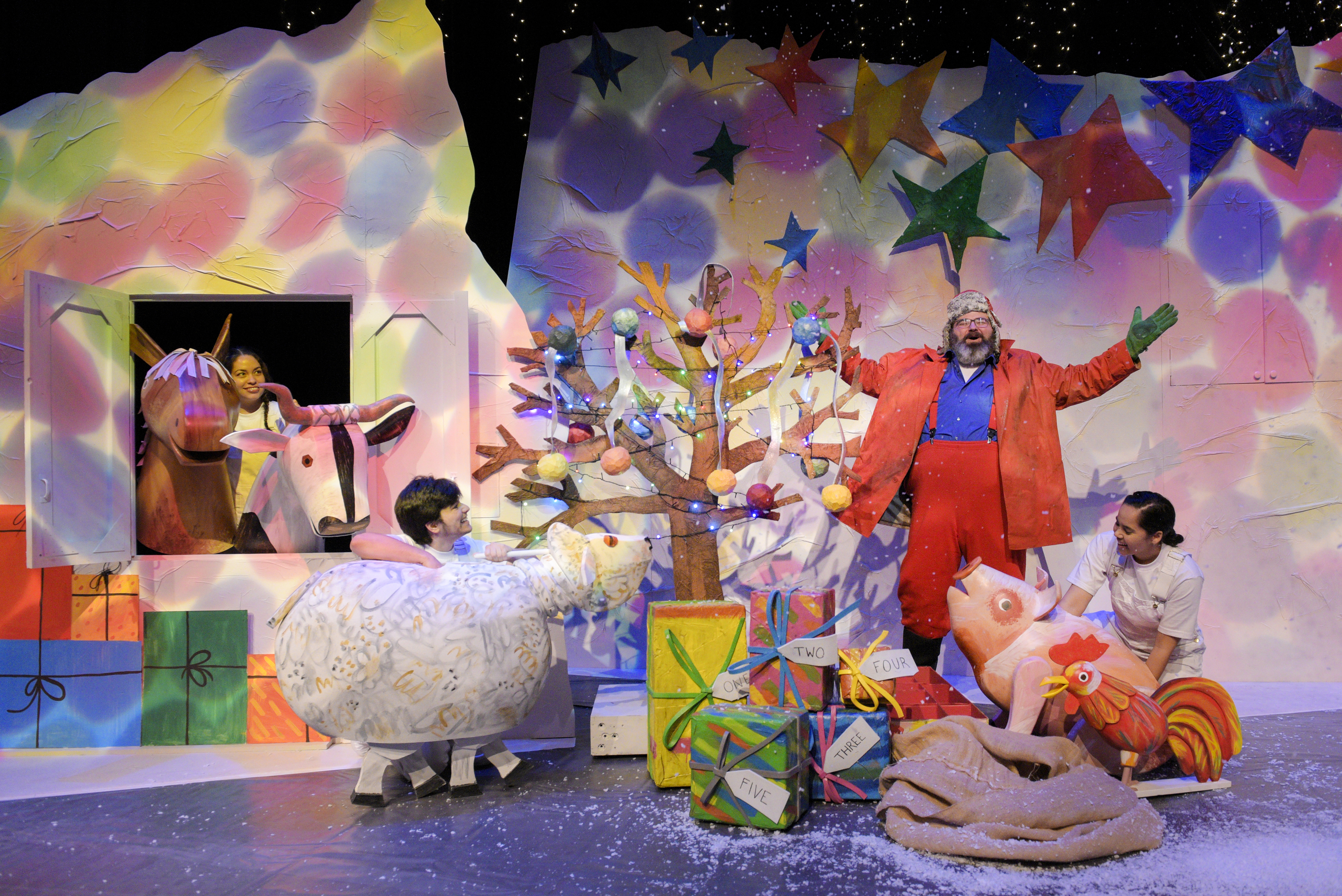 On stage with The Very Hungry Caterpillar Christmas Show